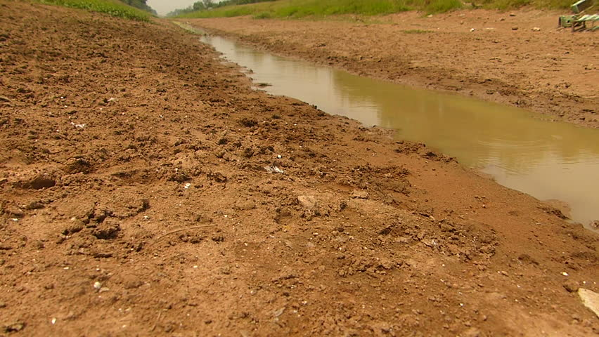 The shortage of water for agriculture.   Shutterstock HD Video #1008971246