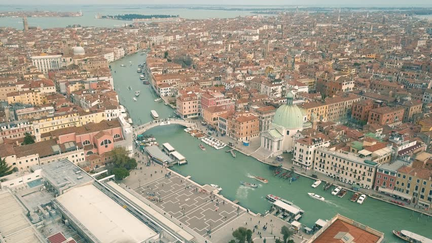 Aerial view of Venice and its Grand canal | Shutterstock HD Video #1009027346