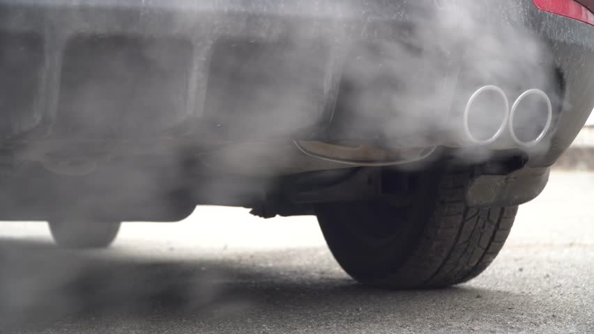 Exhaust gases from the engine's combustion is incomplete.