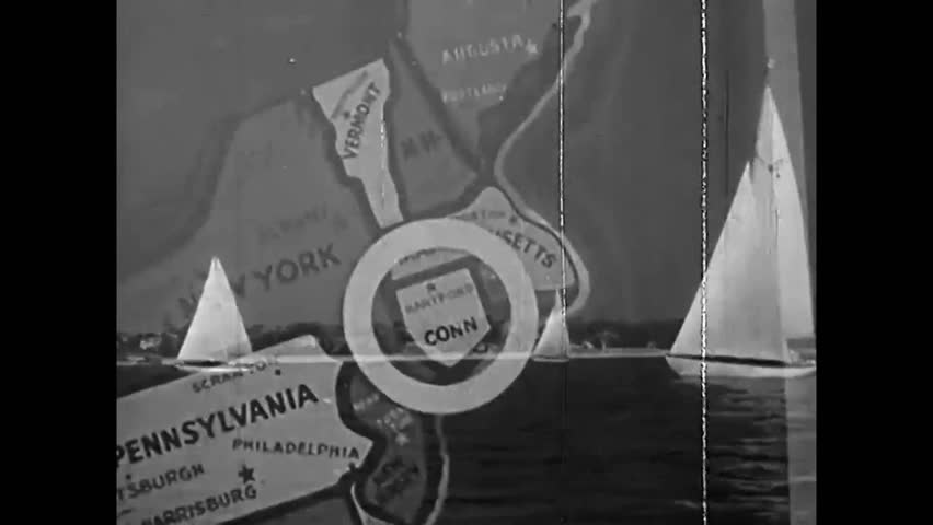 CIRCA 1950 - A short travelogue film highlighting sights in Connecticut.