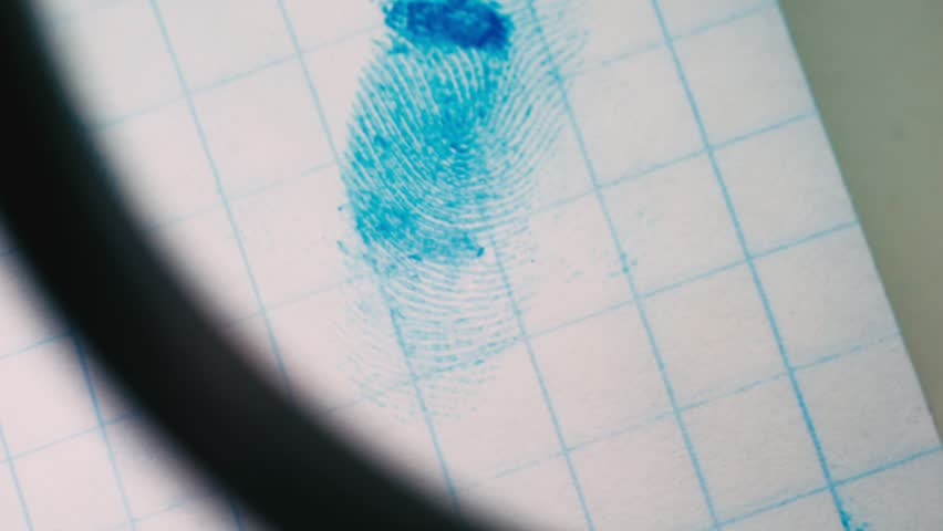 Fingerprints on a sheet of paper close-up. | Shutterstock HD Video #1009372526