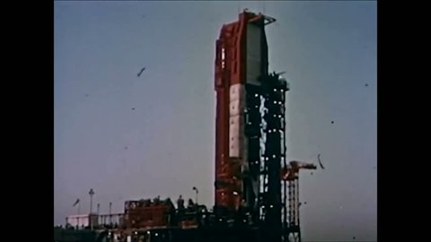 CIRCA 1964 - Inclement weather postpones the Gemini II launch.