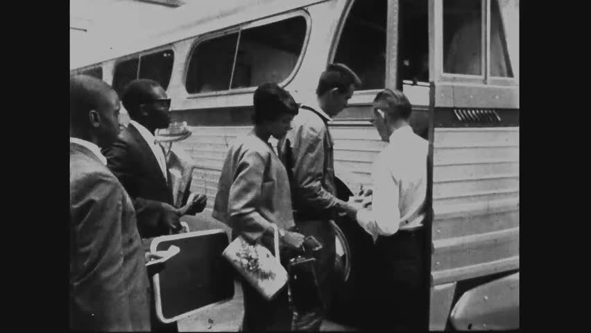 CIRCA 1960s - Civil Rights Activists are arrested in Montgomery, Alabama for protesting segregation, led by Reverend Martin Luther King Jr.