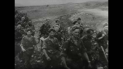 CIRCA 1942 - The Red Army mobilized with the people of the Caucasus Mountains, as the German Army began to attack Stalingrad, during WWII.