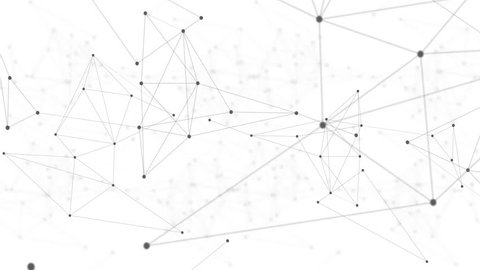 Loopable polygon blockchain technology network futuristic abstract black net on white background. Global cryptocurrency blockchain business banner concept. 4K seamless loop video footage animation