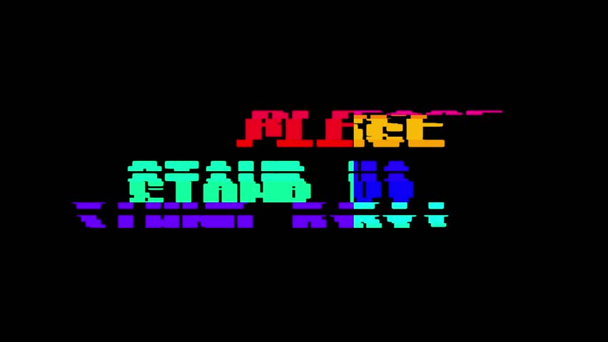 Retro videogame STAND BY word text computer old tv glitch interference noise screen animation seamless loop New quality universal vintage motion dynamic animated background colorful joyful video | Shutterstock HD Video #1009460516
