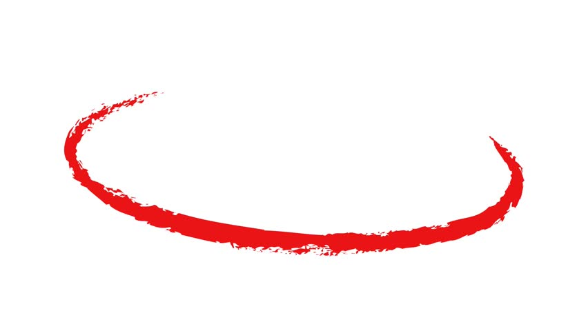 Circle draw on white background, 9 animated design elements of highlighting, red marker animation with alpha channel. | Shutterstock HD Video #1009466936
