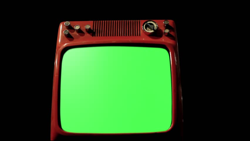 "Antique TV with Green Screen over a Black Bakground of Old TVs. Iron Tone. Dolly In Shot. You can replace green screen with the footage or picture you want. You can do it with ""Keying"" FX. 