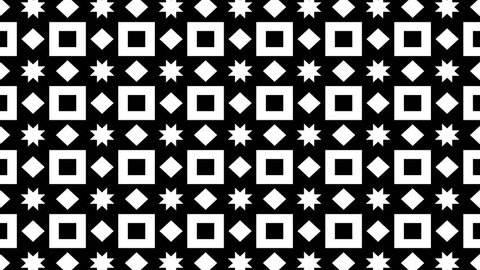 black and white abstract kaleidoscope looped animation
