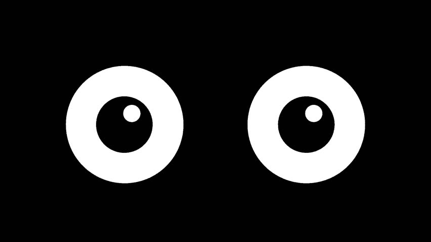 Cartoon big eyes blinking in the dark. animated winking   Shutterstock HD Video #1009620746