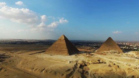 aerial egypt landmarks.