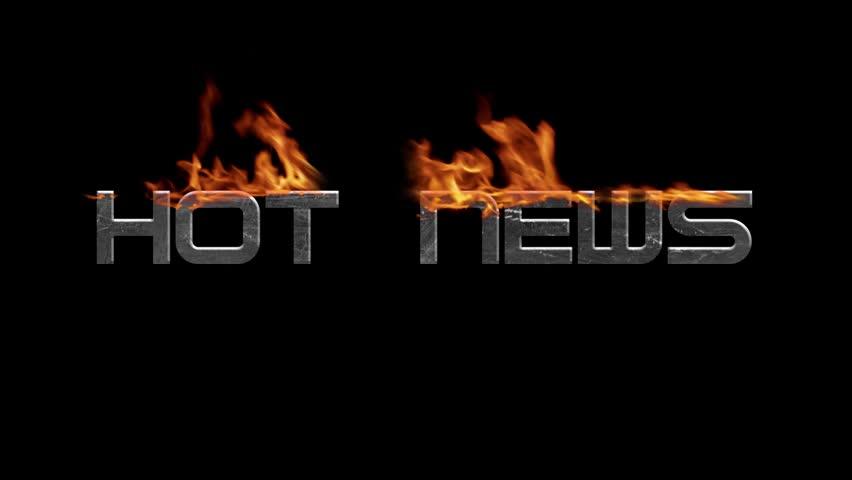 Fire on Hot News text, TV Screen | Shutterstock HD Video #1009636796
