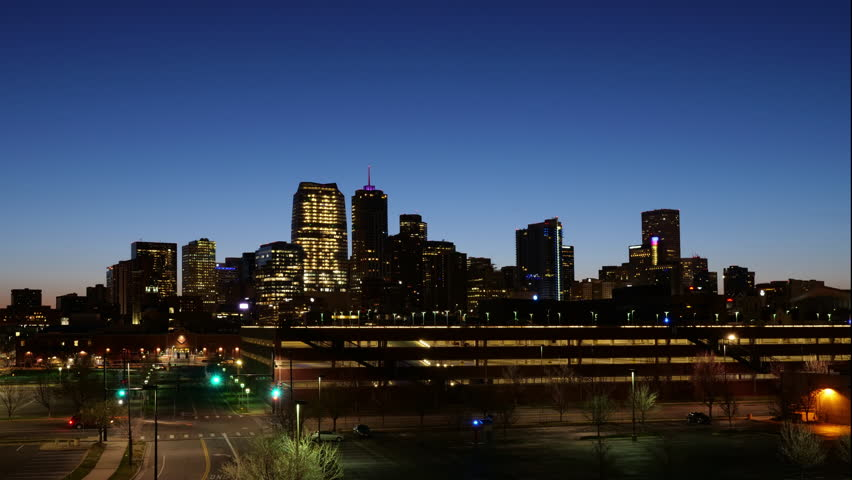 Denver Night to Day Long Timelapse. 4K UHD Wide Angle. | Shutterstock HD Video #1009654646
