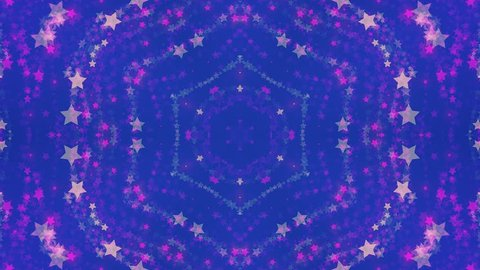 disco kaleidoscopes background with animated glowing neon colorful lines and geometric shapes for music videos, VJ, DJ, stage, LED screens, show, events, christmas videos, festivals, night clubs. 4K.