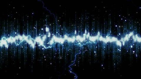 Grid electro spectrum animation background