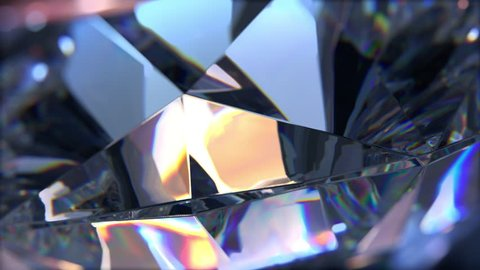 Beautiful slowly rotating diamond. Seamless loop, nice looping background, 4K,ultra high definition 2160p