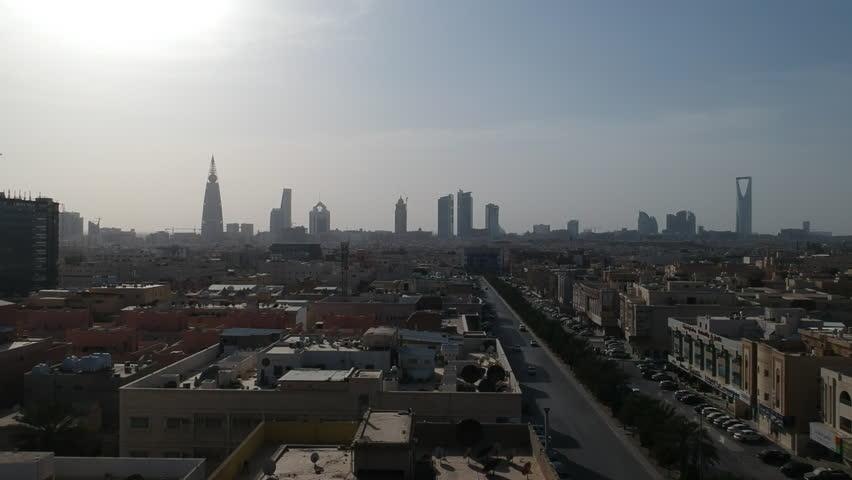 Riyadh Saudi Arabia Skyline in a sunny afternoon