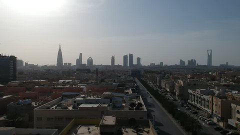 Riyadh Saudi Arabia Skyline in a sunny afternoon