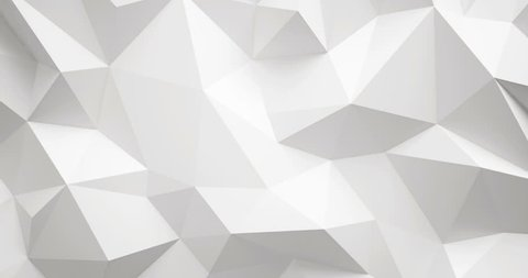White lowpoly wall 4k video,3d rendering.