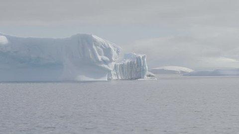 Antarctica Calving Glacier Global Warming Wide