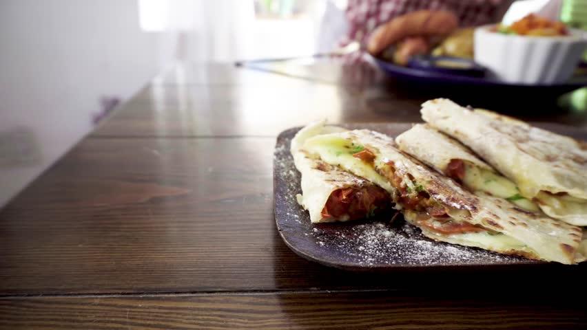Mexican vegetarian quesadilla