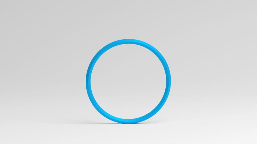 Abstract 3d rendering of rotating ring. Cgi loop animation. Modern background with circle shape. Balance concept. Seamless motion design for poster, cover, branding, banner, placard. 4k UHD   Shutterstock HD Video #1009948586