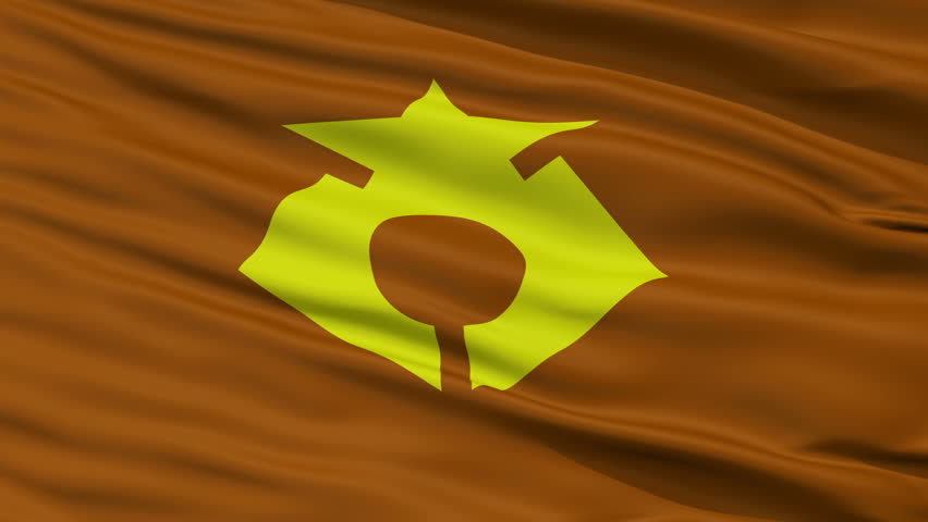 Rikuzentakata close up flag, Iwate prefecture, realistic animation seamless loop - 10 seconds long