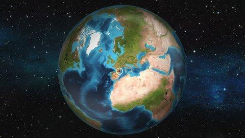 Earth Zoom In Map - Andorra la Vella