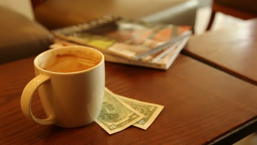 Coffee Newspaper money Business Concept in the morning | Shutterstock HD Video #1010073446