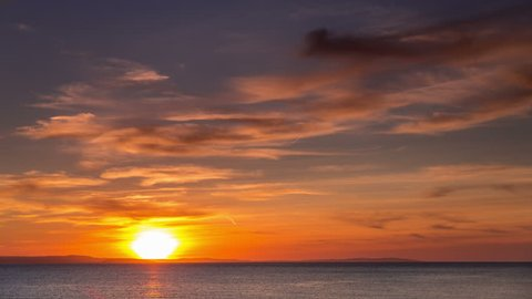 4k time lapse of sunset and clouds over the North Wales coast at Llandudno