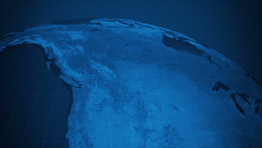 Global Communications At North America (World Map Credits To NASA) | Shutterstock HD Video #1010174516