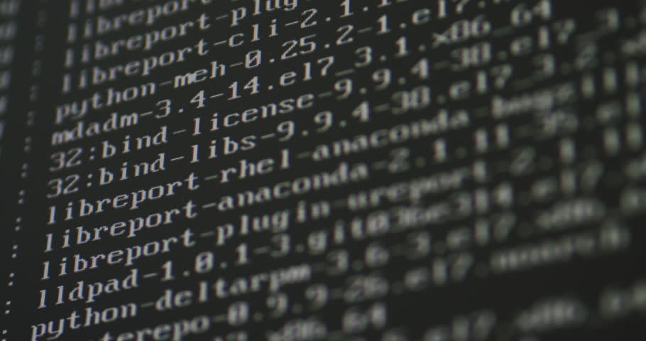 Code scrolling on a computer screen.