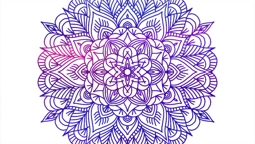 Abstract ornamental digital hand drawn mandala footage. Floral vintage tattoo decorative elements oriental islam pattern. | Shutterstock HD Video #1010249096