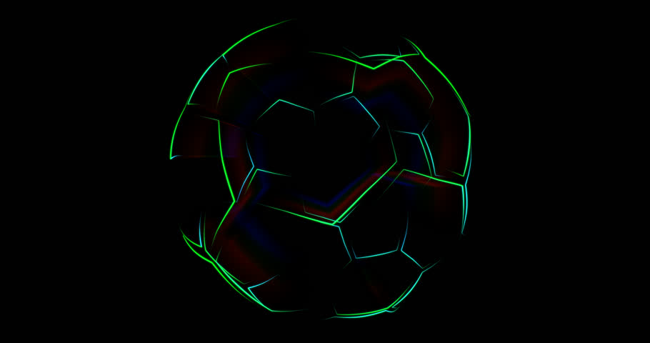 Abstract animation of soccer ball. Looped animation.  Animated background. Soccer ball outlines | Shutterstock HD Video #1010295356
