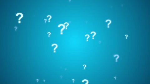 Question Mark Animated Looping Background  Blue