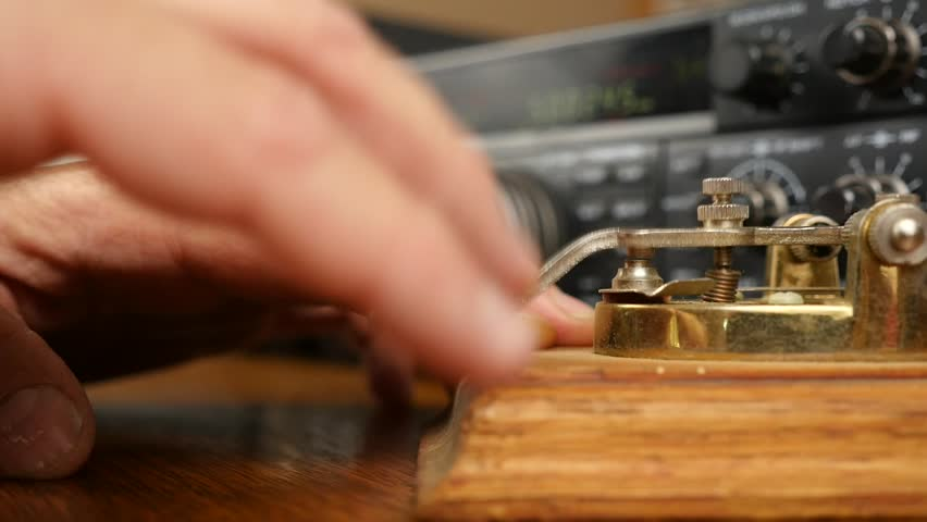 Sending Morse code on a shortwave radio station | Shutterstock HD Video #1010354666