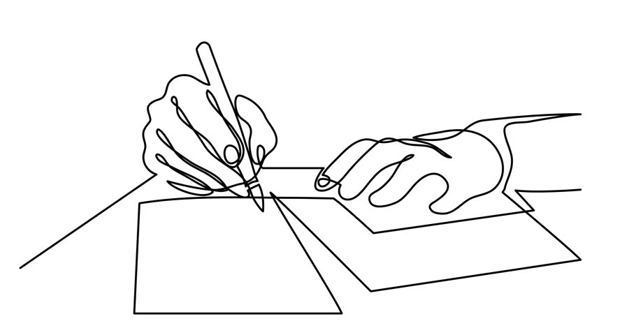 One Line Art Animation : 「self drawing animation of continuous line」の動画素材