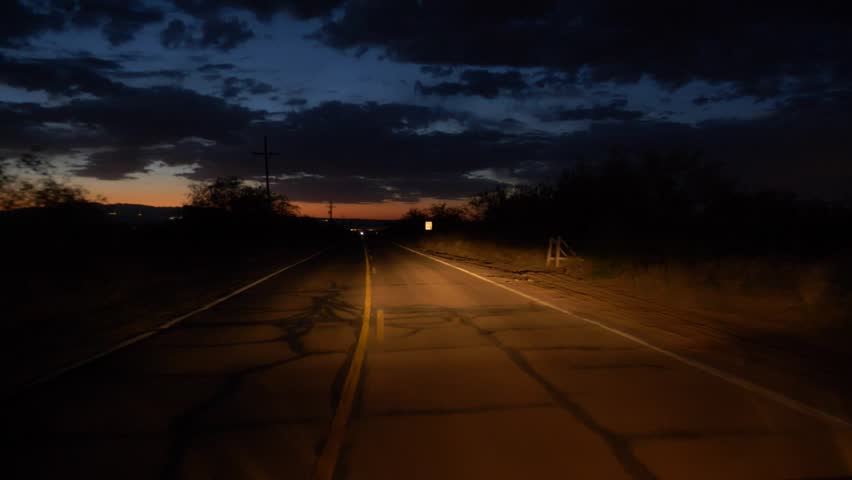 Evening drive point of view on a country road | Shutterstock HD Video #1010389496