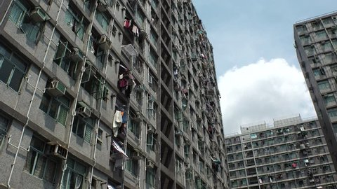 HONG KONG - CIRCA APRIL 2018 : Scenery of RESIDENTIAL APARTMENT at LOC FU area.
