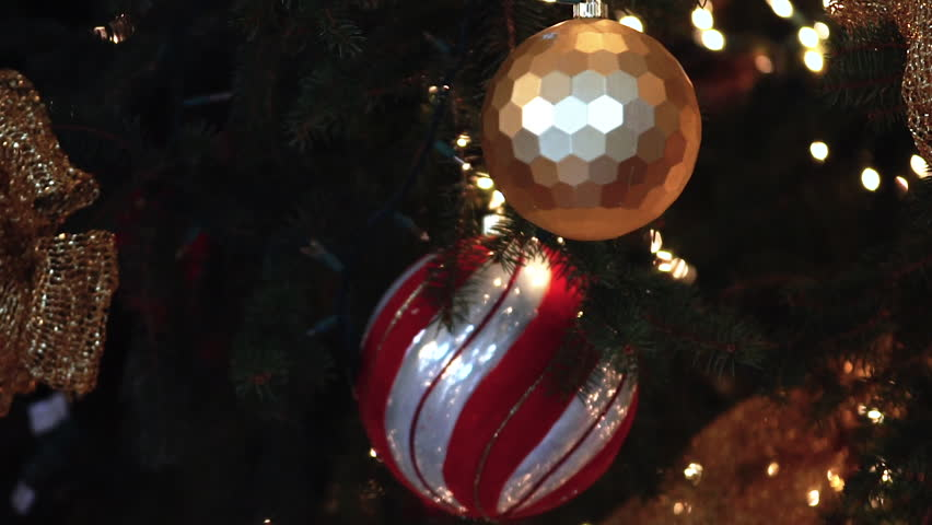 Christmas Ornaments On Tree Cu Stock Footage Video 100 Royalty Free 1010487326 Shutterstock