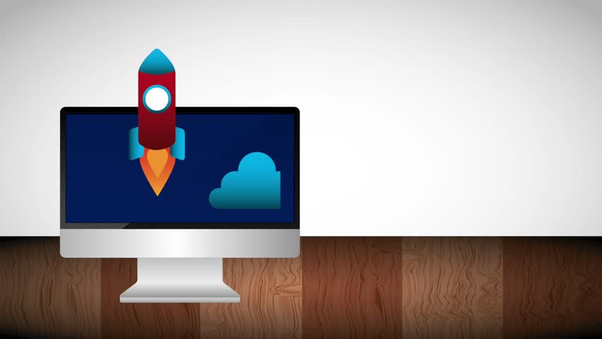 Computer and Start Rocket Launch Stock Footage Video (100% Royalty-free)  1010534966 | Shutterstock