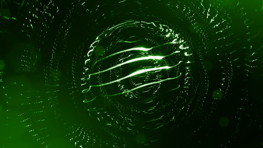 3d render of luminous particles as science fiction background or modern abstract green background of particles with depth of field and bokeh like vj loop. Particles form line and round structure. 3 | Shutterstock HD Video #1010602856