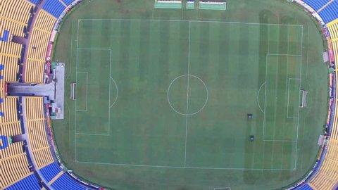 UANL estadio Tigres Stadium drone aerial view footage