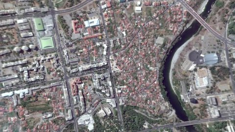 Earth Zoom In Zoom Out Podgorica Montenegro