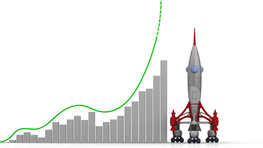 The graph of experience growth. Graph of rapid growth with red word EXPERIENCE and rocket launch. Footage video | Shutterstock HD Video #1010793596