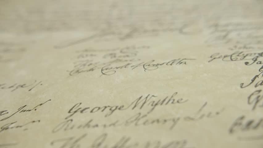 John Hancock signature on declaration of independence