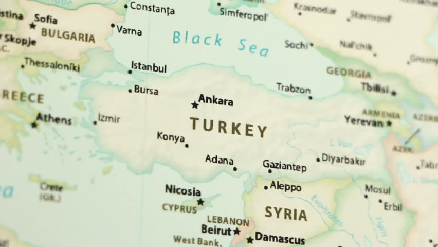 Turkey On A Political Map Stock Footage Video 100 Royalty Free