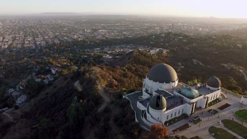 Los Angeles: Griffith Park & Observatory at Sunset (drone/aerial) | Shutterstock HD Video #1011106706