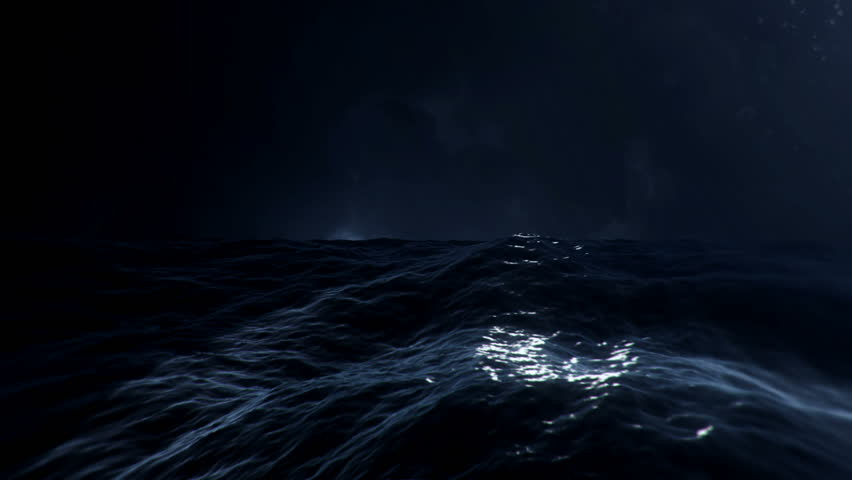In the Middle of a Stormy Sea with Lightnings | Shutterstock HD Video #1011230696