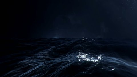In the Middle of a Stormy Sea with Lightnings
